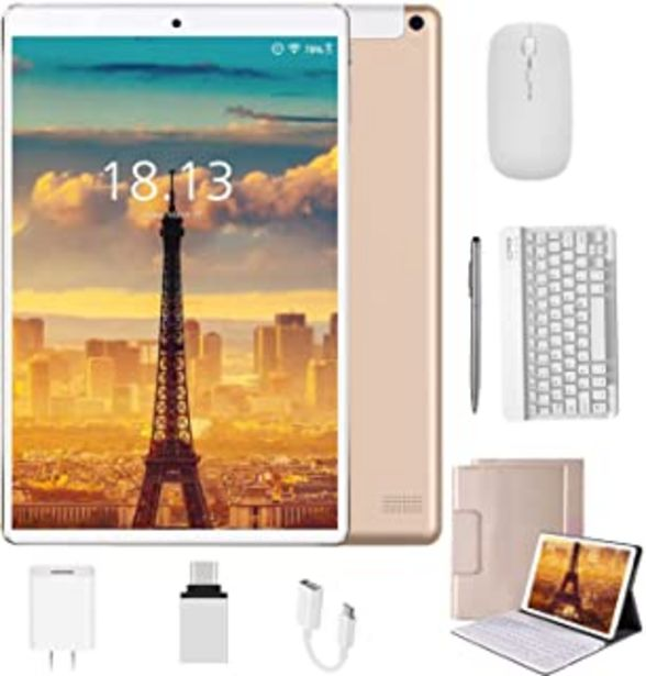 Oferta de Tablet 10.1 Pulgadas 4G Android 10.0 Quad Core DUODUOGO Tablet Baratas 4GB RAM 64GB ROM/128GB Escalables 8000mAh Doble SI... por 122,11€
