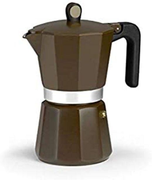 Oferta de Monix New Cream - Cafetera Italiana de Aluminio, Capacidad 12 Tazas, Apta para Todo Tipo de cocinas incluida inducción por 23,79€