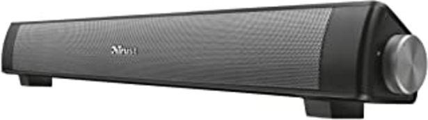 Oferta de Trust Lino - Barra de Sonido inalámbrica con Bluetooth, Altavoces PC - Negro por 41€