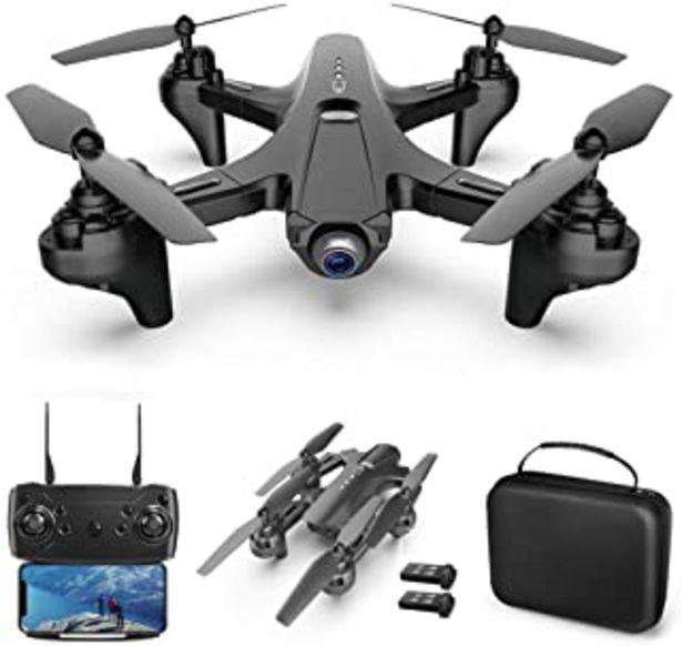 Oferta de Goolsky RC Drone con cámara Dual Camera Drone 4k RC Quadcopter WiFi FPV Drone Drone Plegable Modo sin Cabeza Una tecla de ... por 65,99€