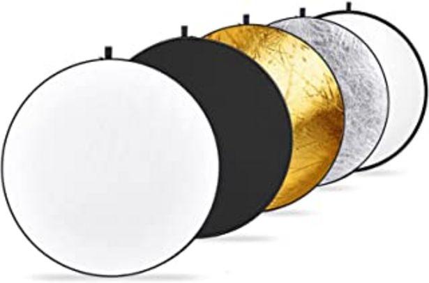 Oferta de Neewer 110cm Reflector de Luz Multi-disco Plegable 5 en 1 con Bolsa Translúcido, Plateado, Dorado, Blanco y Negro para Fot... por 29,44€