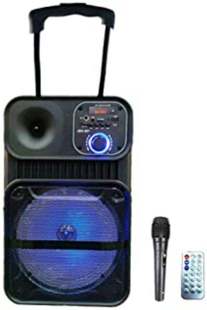 "Oferta de Sistema de Sonido portátil Ruedas 8"" Altavoz Karaoke Inalámbrico portátil con micrófono Reproductor Recargable Radio FM MP... por 55,85€"