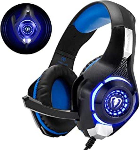 Oferta de Beexcellent GM-1 - Auriculares Gaming para PS4, PC, Xbox one, PlayStation - Psone, Cascos Ruido Reducción de Diademas Cerr... por 15,99€