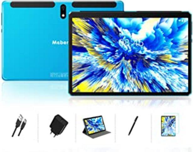 Oferta de Tablet 10 Pulgadas Android 10.0 - Ultrar-Rápido Tableta 4GB RAM+64GB ROM - Certificación Google gsm - Ocho-Núcleos|8000mAh... por 118,98€