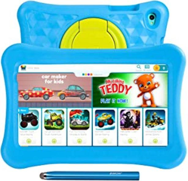 Oferta de Tablet para niños de 8 Pulgadas AWOW Tablet Infantil, Android 11 Go Quad Core, 2GB RAM 32GB ROM, KIDOZ Preinstalado, con K... por 84,99€