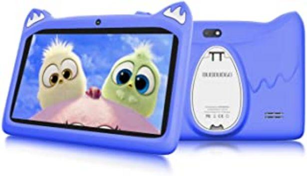 Oferta de Tablet para Niños, Android 10.0 Quad Core Certificación Google GMS DUODUOGO G28 7 Pulgadas HD IPS 3GB RAM+32GB ROM/128GB E... por 76,92€