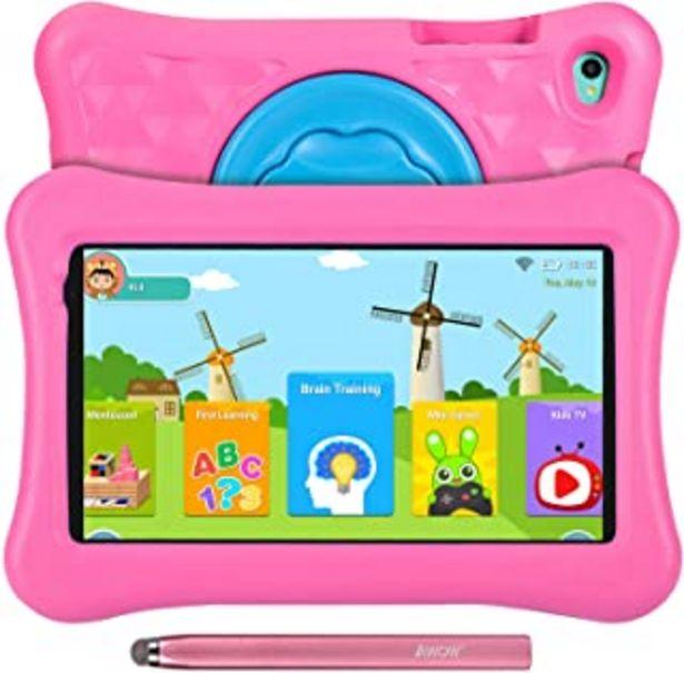 Oferta de Tablet para niños de 8 Pulgadas AWOW Tablet Infantil, Android 11 Go Quad Core, 2GB RAM 32GB ROM, iWawa Preinstalado, con K... por 84,99€