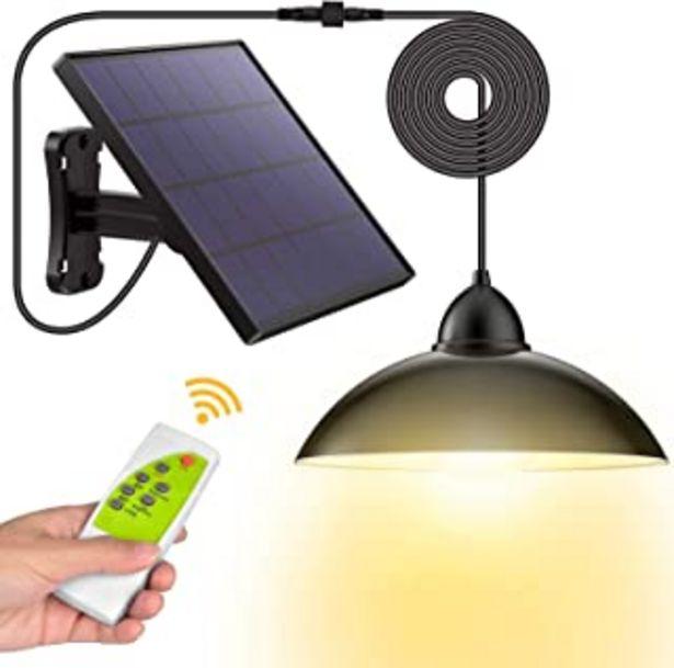 Oferta de Luz Solar, Hikeren Foco Solar, Impermeable IP65 Luz del Sensor Solar, Lampara Solar con Mando a Distancia, para Exterior/I... por 29,85€