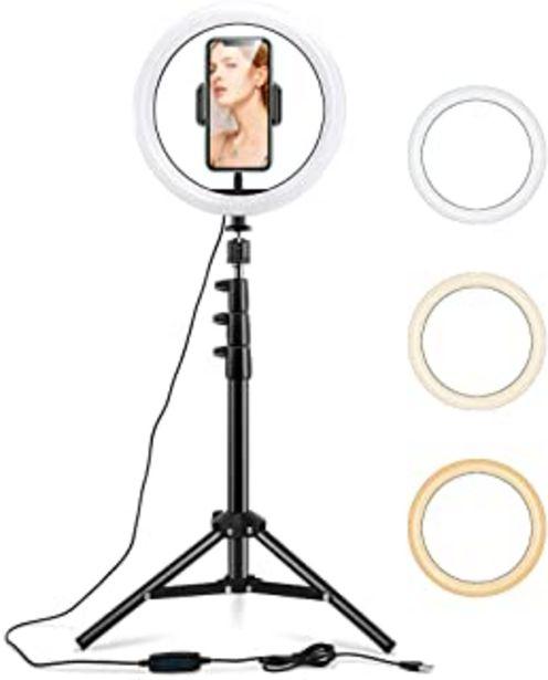 """Oferta de ESR Luz TIK Tok 10"""" LED Anillo de Luz, Aro de Luz con Trípode y Soporte para Teléfono Móvil, 3 Modos de Luces para Tiktok ... por 35,99€"""
