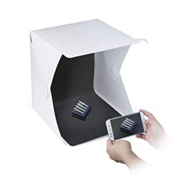 Oferta de ZWOOS Caja de Fotografía con LED de Luz Fotográfico Tienda Caja de Kit, Mini Plegable Portátil Fotografía Estudio Foto con... por 9,99€