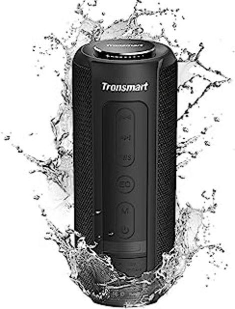 Oferta de Tronsmart T6 Plus Altavoz Bluetooth 40W, Altavoces Portatiles Waterproof IPX6 con Powerbank, 15 Horas de Reproducción, Son... por 52,79€