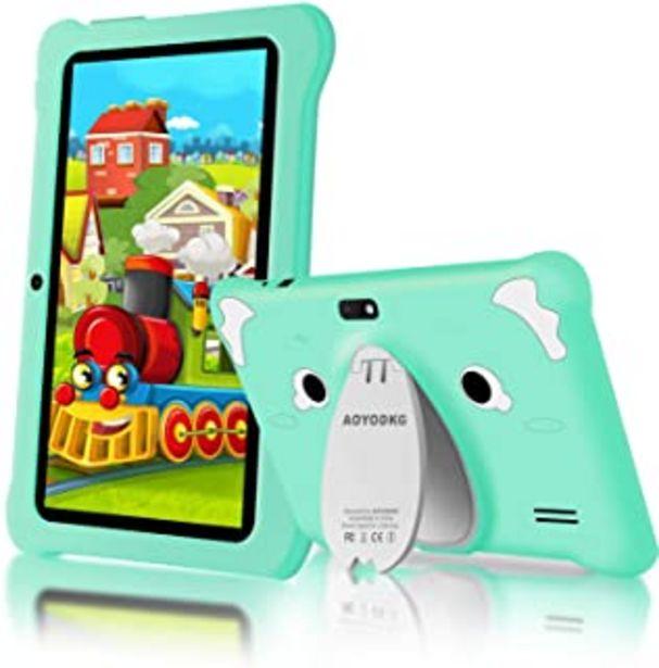 Oferta de Tablet para Niños Android 10.0 (Certificación Google GMS) 3GB RAM+32GB ROM/128GB 7.1 Pulgadas HD 5.0MP Cámara Quad Core Ta... por 74,99€