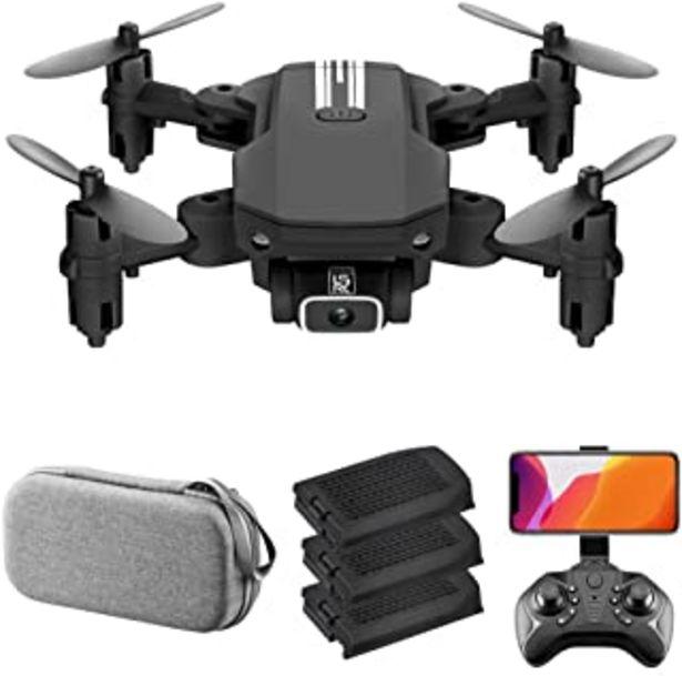 Oferta de LS-MIN Mini Drone RC QuaAdcopter Cámara 13mins Tiempo Vuelo 360° Flip 6-Axis Gyro Gesto Foto Video Pista Vuelo Altitud Con... por 46,99€