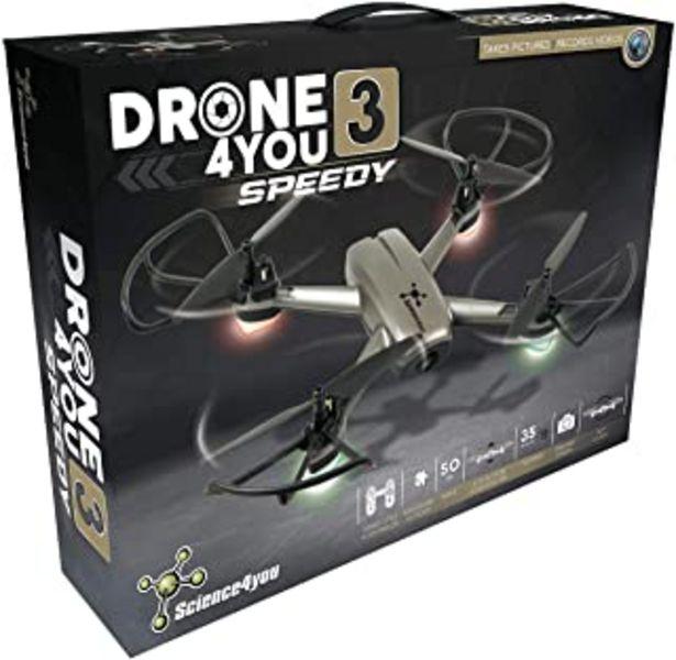 Oferta de Science4you - Drone4you - Speedy Drone para Niños, Dron com Cámara HD y Teledirigido, Dron Interior com WiFi incluye Helic... por 119,99€
