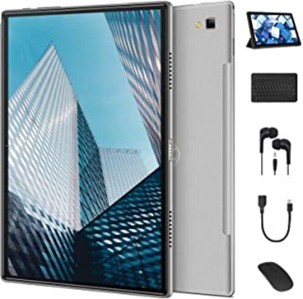 Oferta de QunyiCO Y20 Grandes Tablet 10.1 Pulgadas Android 10.0, 4G Dual SIM/SD, Batería 8000mAh, 4GB RAM 64GB ROM, 5G/2.4G Dual WIF... por 169,99€