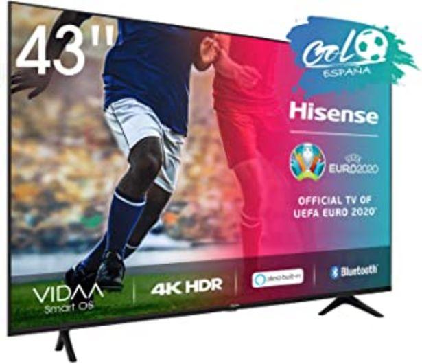 Oferta de Hisense UHD TV 2020 43AE7000F - Smart TV Resolución 4K con Alexa integrada, Precision Colour, escalado UHD con IA, Ultra D... por 319,99€