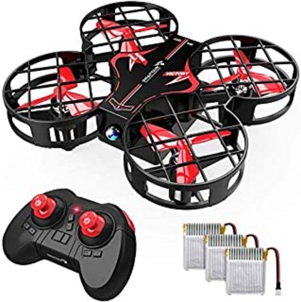 Oferta de SNAPTAIN H823H Plus Mini Drone para Niños, Dron con 3 Baterías, 21 Minutos de Tiempo de Vuelo - Mini Helicóptero Quadcopte... por 29,99€