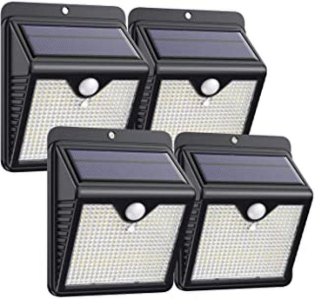 Oferta de ?4 Paquete?Luz Solar Exterior 150 LED, Trswyop Foco Solar Exterior con 120 ° Gran Angular Sensor de Movimiento Lámpara Sol... por 26,95€