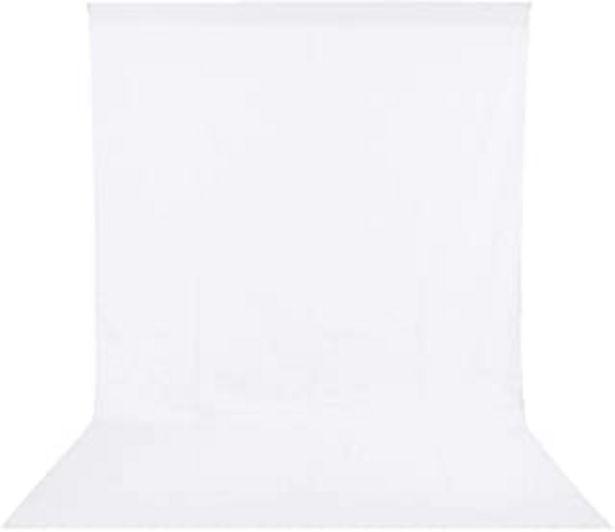 Oferta de BDDFOTO Fondo blanco 1.8 x 2.8 m Estudio de fotografía de muselina plegable Fondo de video en blanco puro con bolsillo par... por 19,99€