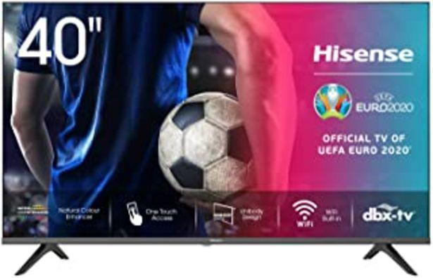 Oferta de Hisense 40AE5500F - Smart TV, Resolución Full HD, Natural Color Enhancer, Dolby Audio, Vidaa U 2.5 con IA, HDMI, USB, Sali... por 289€