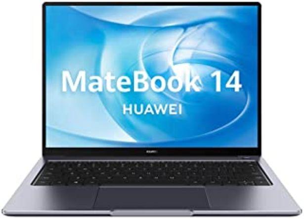 Oferta de Huawei Matebook 14 - Ordenador Portátil Ultrafino de 14'' 2K (Intel core i7-10510U, 16GB RAM, 512GB SSD, GeForce MX350-2GB... por 999€