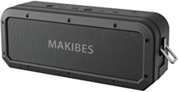 Oferta de Altavoz Bluetooth 40W, Makibes M2 40W Altavoz Portatiles Waterproof IPX7, 18 Horas de Reproducción, Sonido Estéreo TWS, Ef... por 43,99€