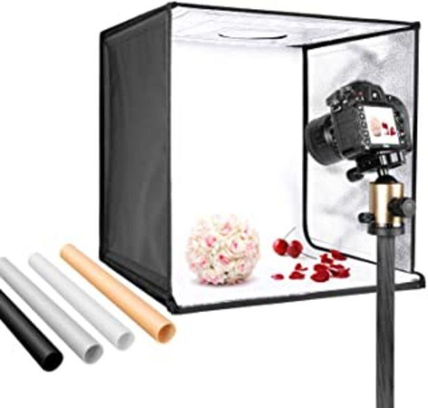 Oferta de Neewer Caja Luz Foto Estudio 50cm Tienda Luz Disparo Brillo Ajustable Plegable Portátil Mesa Profesional Kit de Iluminació... por 56,99€