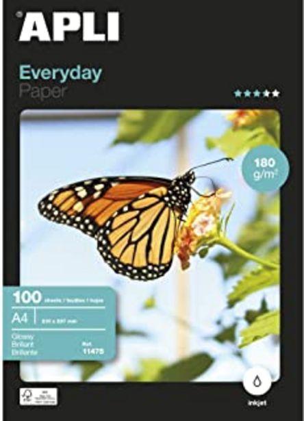 Oferta de Apli Paper 11475 Papel Fotografico A4 Everyday 180GR 100H por 16,64€