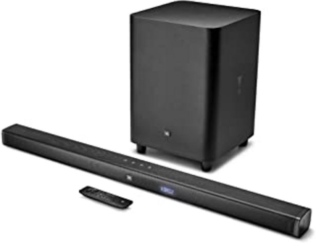 Oferta de JBL BAR 3.1 Surround, Barra de Sonido 3.1 Ultra HD 4k con Subwoofer inalámbrico para tv y pc, una experiencia de inmersión... por 316,93€