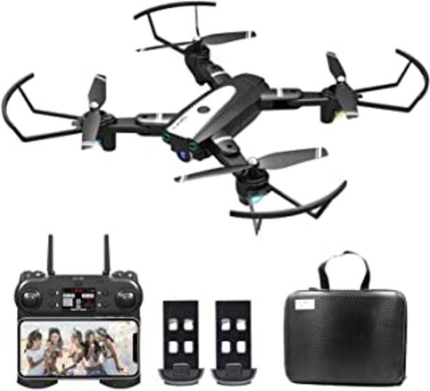 Oferta de 0BEST Dron con Cámara 4K HD, Avión WiFi FPV, Modo sin Cabeza, Foto Gestual, Regreso con un Solo Botón, 360 Flip, 30 Minuto... por 64,99€