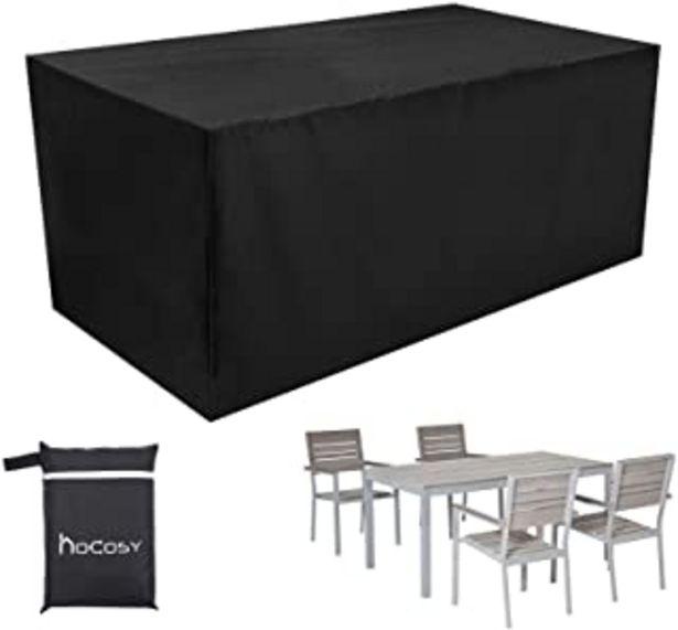 Oferta de HOCOSY Funda Muebles Jardin Impermeable,Protector Mesa Apilables, Anti-UV Resistente al Polvo, 210D Oxford, 200 X 160 X 70... por 20,99€