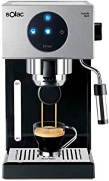 Oferta de Solac CE4552 Squissita Touch - Cafetera espresso, 1.5 l, 1000 W, portafiltros para 1 o 2 cafés, táctil, auto-parada, auto-... por 146€