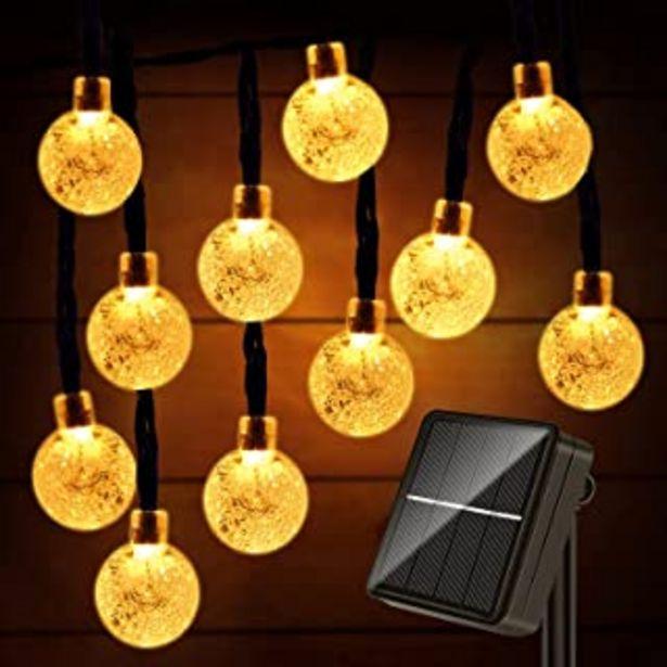 Oferta de Guirnaldas Luces Exterior Solar, 60LED 11M Luces Solares Led Exterior Jardin, 8 Modos Cadena de Luces Decoracion para Terr... por 11,89€