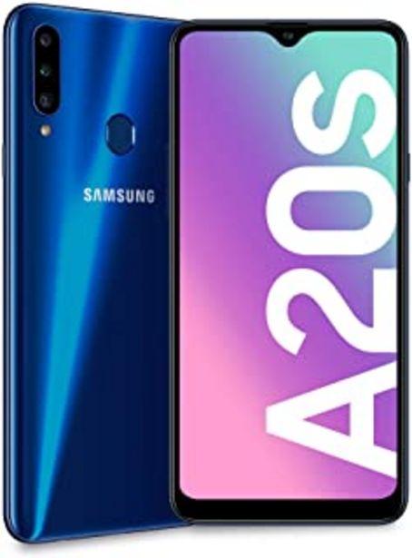 Oferta de SAMSUNG Smartphone MÓVIL Galaxy A20S Blue - 6.5'/16.5CM - CAM (13+8+5)/8MP - OC 1.8GHZ - 32GB - 3GB RAM - Android - 4G - D... por 149,99€