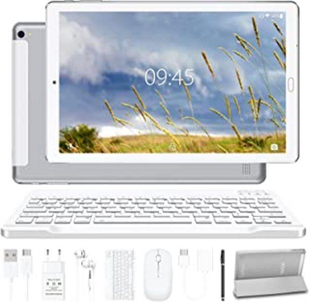 Oferta de Tablet 10.0 Pulgadas YESTEL Android 10.0 Tablets con 4GB RAM + 64GB ROM - /WiFi | Bluetooth | GPS, 8000mAH, con Ratón | Te... por 126,85€