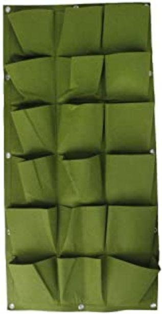 Oferta de 18 Bolsillos Bolsa Vertical Colgante Decoración Hogar Jardín de Hierbas Planta Pared Interior / Exterior Verde por 14,98€