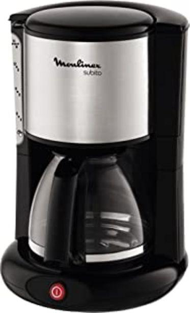Oferta de Moulinex FG360811 Cafetera de filtro, 12 tazas, función Auto, 1000 W, plástico, Acero Inoxidable, Inox y negro por 37,99€