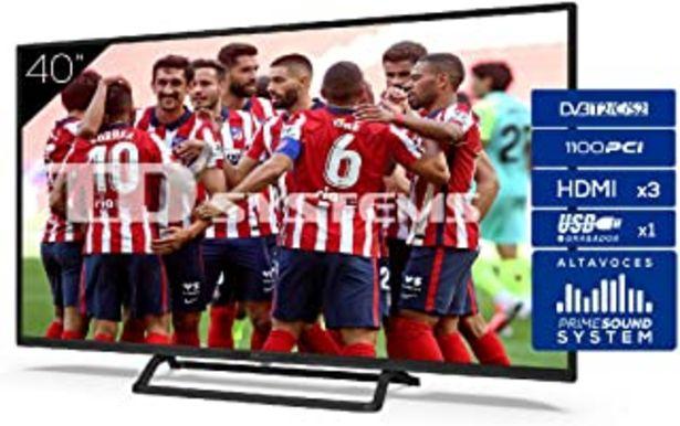 Oferta de TD Systems Televisor 3X HDMI, VGA, USB, 1100 PCI Hz, Grabador Reproductor, DVB-T2/C/S2 Modo Hotel - K40DLX11F 40 Pulgadas por 199€