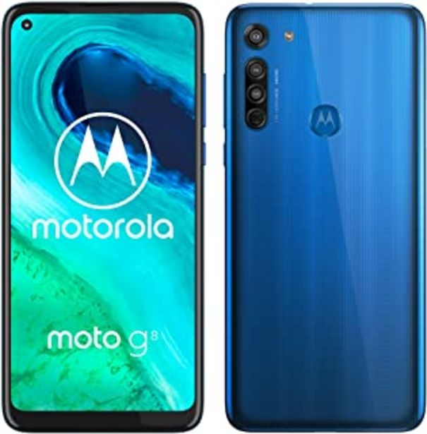 "Oferta de Motorola Moto G8 - Smartphone de 6,4"" HD+ o-notch, 4G, Qualcomm Snapdragon SD665, Sistema de cámara triple, 64 GB, 4 GB RA... por 129,9€"