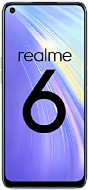 "Oferta de Realme 6 – Smartphone de 6.5"", 8 GB RAM + 128 GB ROM, Procesador OctaCore, Cuádruple Cámara AI 64MP, Dual Sim, Color Comet... por 213,97€"