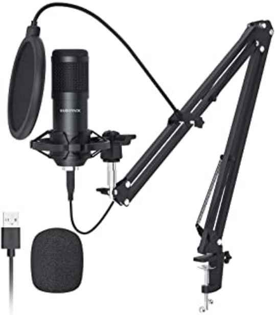 Oferta de USB Streaming Podcast PC Micrófono,SUDOTACK Profesional 192KHZ/24Bit Estudio Cardioide Condensador Mic Kit con Tarjeta de ... por 47,19€
