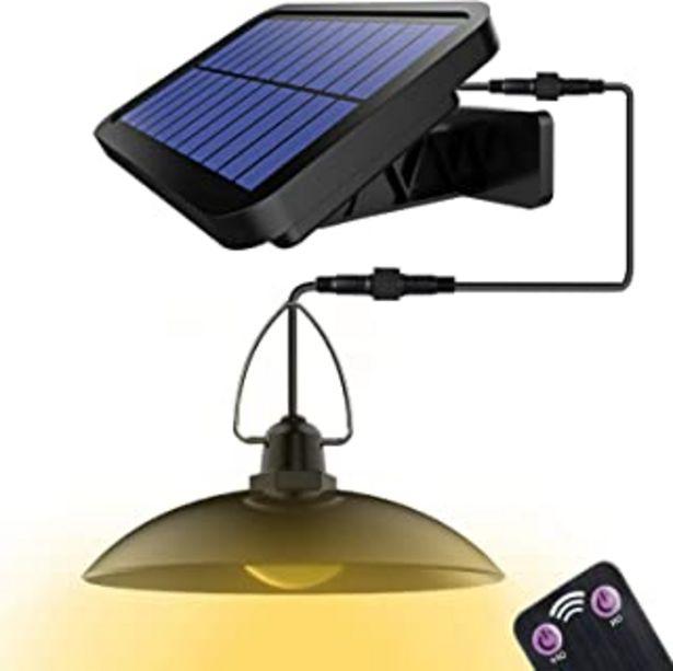 Oferta de Luz Solar, Foco Led Exterior, Luz Solar Jardín Impermeable IP65,Luz Solar Exterior con el Mando a Distancia, para Exterior... por 23,75€