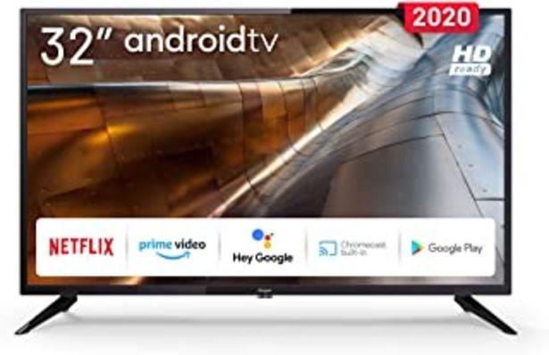 Oferta de TV 32 Pulgadas LED 720p con Smart TV (Android TV) y WiFi por 199€