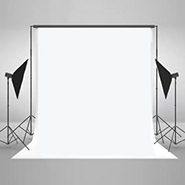 Oferta de KateHome PHOTOSTUDIOS 1.5 × 2.2m Sin Arrugas Telones Blancos para fotógrafos Fotografía Foto Fondo Prop por 19,43€