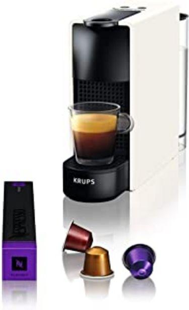 Oferta de Nespresso Krups Essenza Mini XN1101 - Cafetera monodosis de cápsulas Nespresso, compacta, 19 bares, apagado automático, co... por 59€