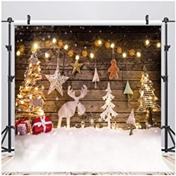 Oferta de AIIKES 8x8FT Fondo de fotografía de Navidad Fondo de decoración de árbol de Navidad Fondo de Foto de Navidad de bebé Fondo... por 36,99€