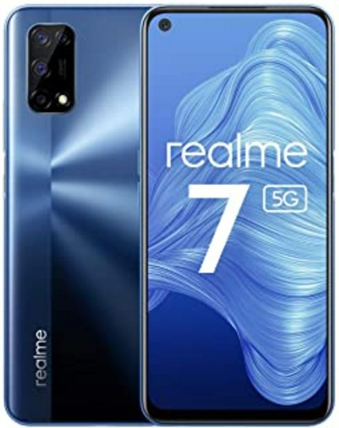 Oferta de Realme 7 5G - smartphone de 6.5, 6GB RAM + 128GB de ROM, 120Hz Ultra Smooth Display, 48MP Quad Camera, batería con 5000mAh... por 212,29€