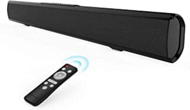 Oferta de Meidong Barra de Sonido para TV, Barras de Sonido con Control Remoto Audio HiFi 4 Altavoces 50 Vatios 43 Pulgadas Altavoz ... por 74,99€
