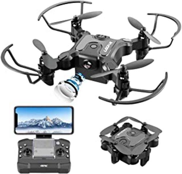 Oferta de 4DRC V2 Mini Drone con Cámara 720P HD Plegable FPV Control de Voz, Control de Gestos, Trayectoria de Vuelo, Vuelo Circula... por 52,99€