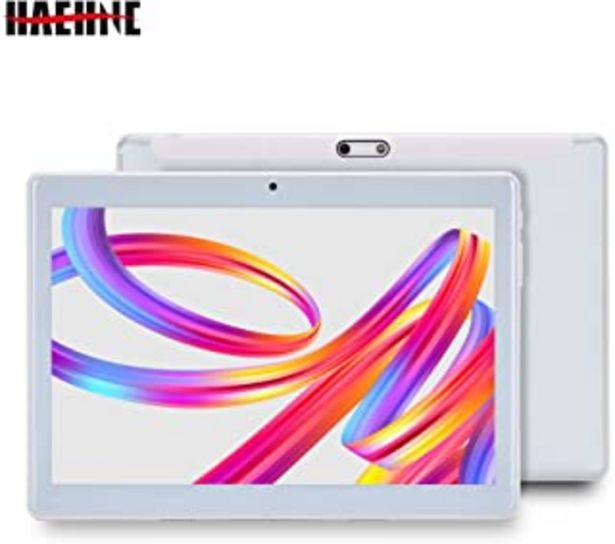 Oferta de Haehne 10,1 Pulgadas Tablet, Google Android 4.4 gsm WCDMA 3G Phablet, HD 1280 * 800P Pantalla capacitiva, Quad Core 1.3GHz... por 77,99€